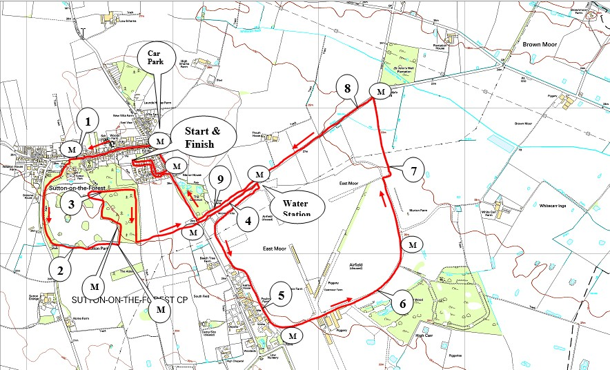 Sutton 10k Course Map