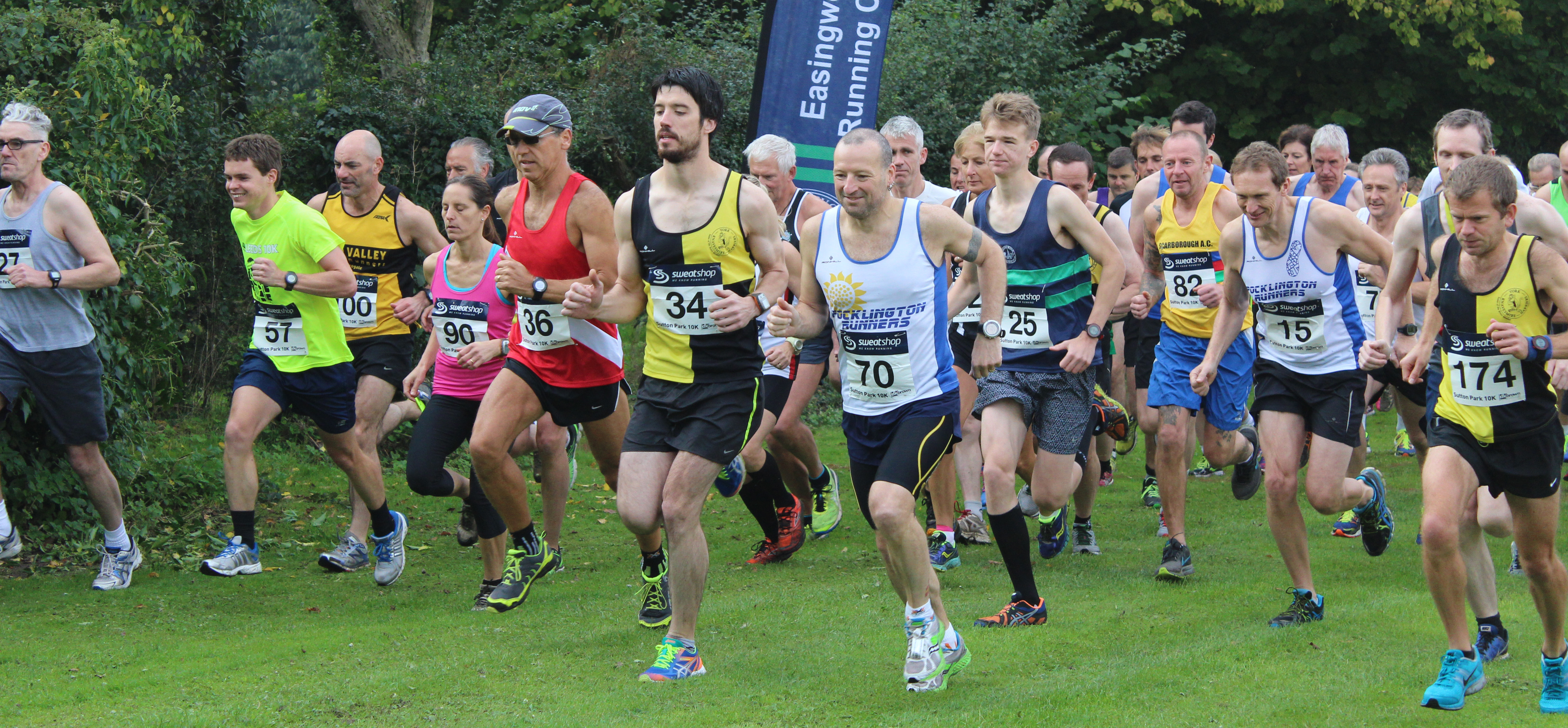 Sutton 10k runners at start of race