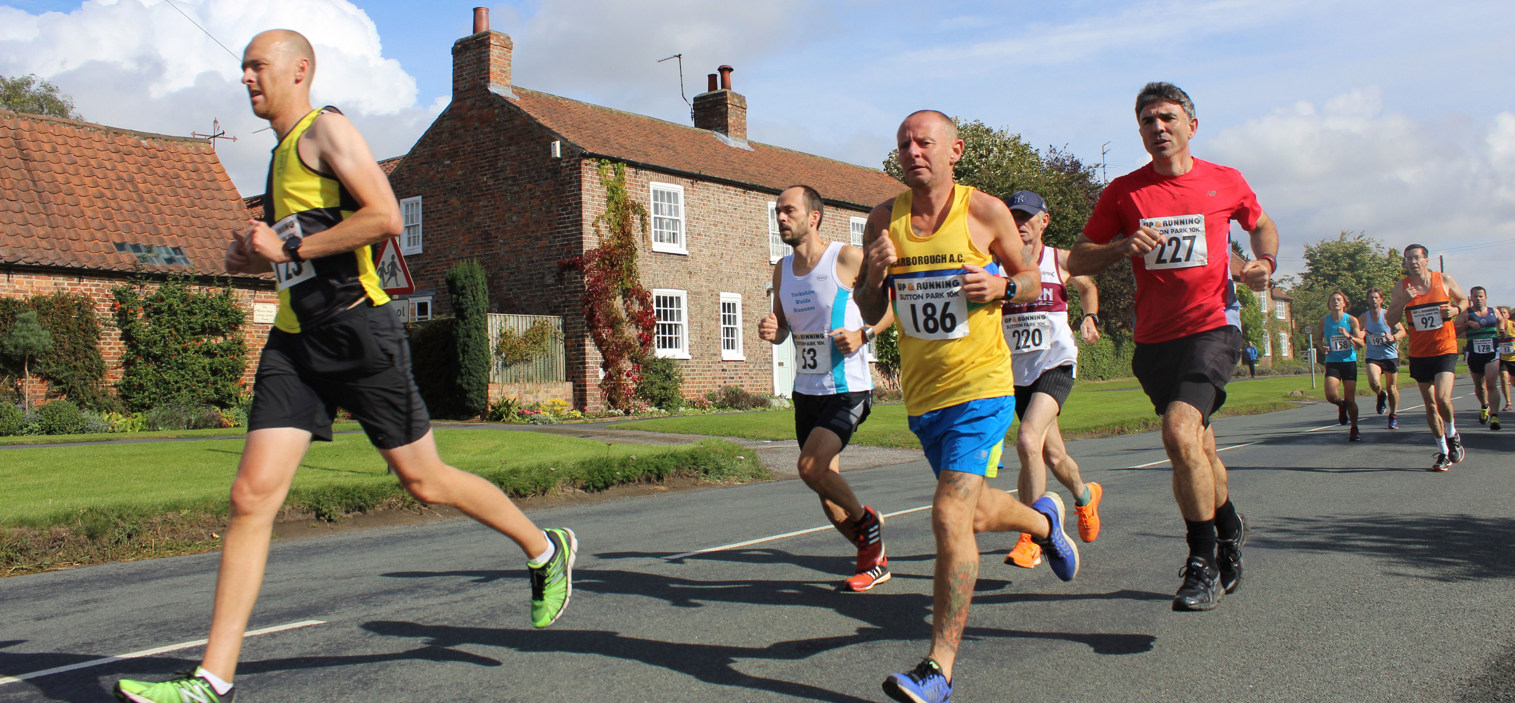 Sutton 10k runners in Main street